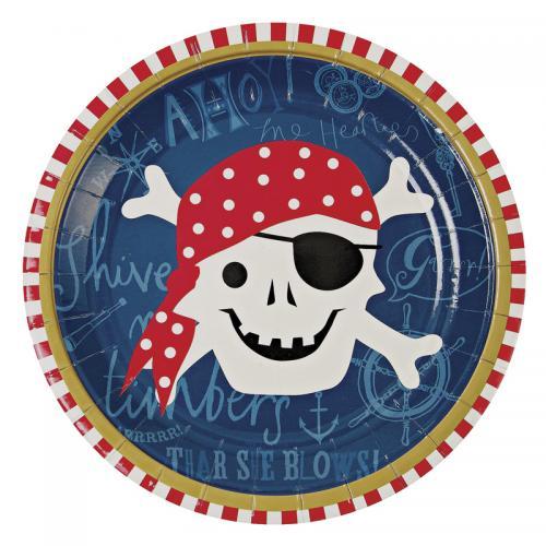 【Meri Meri】 Ahoy There Pirate プレート 12枚 海賊 紙皿 パイレーツ 【お皿・プレート】ペーパープレート パーティー用紙皿 バースデイ バースデー ホームパーティー ピクニック おしゃピク グランピング ベランピング キャンプ