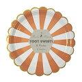 【MeriMeri】TOOTSWEET22cmオレンジストライプペーパープレート8枚【お皿・プレート】ペーパープレートパーティー用紙皿バースデイバースデーホームパーティーピクニックおしゃピクグランピングベランピングキャンプ