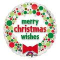 クリスマスバルーンクリスマスウィッシーズドッツ15L【風船のみ】【アルミバルーン】