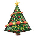クリスマスバルーンクリスマスツリーガーランド42L【風船のみ】【アルミバルーン】
