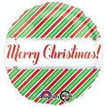クリスマスバルーンクリスマスストライプ15L【風船のみ】【アルミバルーン】