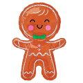 クリスマスバルーンハッピージンジャーブレッドマン39L【風船のみ】【アルミバルーン】