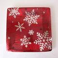 ペーパープレートクリスマススクエア26cm8枚紙皿雪の結晶【お皿・プレート】