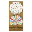 【MeriMeri】ケーキカップ ドット サーカス TootSweet 2種×24組 【フード飾り】【紙型】【紙製】【焼型】【ケーキカ…