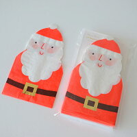 【MeriMeri】クリスマスペーパーナプキンサンタクロースダイカット紙ナプキン16枚テーブルデコレーションペーパーナプキン紙ナプキンデコレーションバースデーパーティーホームパーティー誕生日バースデイパーティー