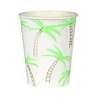 【MeriMeri】ペーパーカップヤシの木紙コップ8個入り【コップ・カップ・グラス】【紙コップペーパーカップバースデーお誕生日会パーティーホームパーティーアウトドアピクニック
