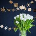 【MyMind'sEye】ゴールドスター&サークルバナーセット(2.1m)【ガーランド・バナー】【ウエディング結婚式ブライダル誕生日ハロウィンクリスマスパーティー飾り付け二次会】