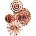【MyMind'sEye】ペーパーファンパーティーファンローズゴールド4個セット【ウエディング結婚式ブライダル誕生日ハロウィンクリスマスパーティー飾り付け二次会】ホームパーティー装飾