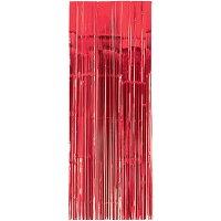 ホイルカーテンメタリックカーテンアップルレッド2.43mx91.4cm