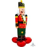 くるみ割り人形ナッツクラッカー60cm×154cmAirLoons【風船のみ】【アルミバルーン・アルミ風船】クリスマスXmasバルーンホームパーティーcristmasパーティーデコレーション置型バルーンディスプレイ