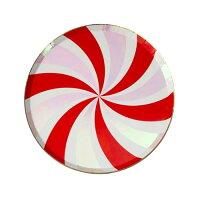 【MeriMeri】クリスマスペーパープレートペパーミントスワール紙皿8枚入り