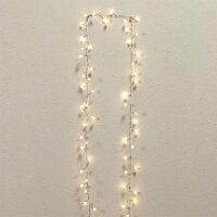 BohneLEDガーランドホワイト60球2.5m【テーブル飾り】LEDライトクリスマス子供部屋寝室インテリアイルミネーション