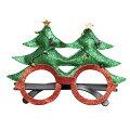 クリスマスキラキラクリスマスツリーサングラス丸メガネ【パーティー小物】クリパパーティーグッズおもしろめがね変装グッズ眼鏡コスプレ衣装