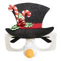 クリスマススノーマンサングラス【パーティー小物】クリパパーティーグッズおもしろめがね変装グッズ眼鏡コスプレ衣装