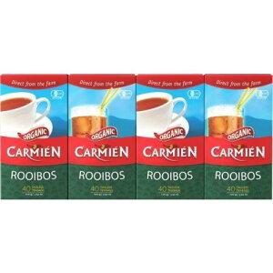 CARMIEN ORGANIC ROOIBOS 『ルイボスティー 160包』 ルイボスティー オーガニック 160袋 有機ルイボス茶 100g×4箱 40袋×4セット カーミエン オーガニック コストコ通販 ルイボス茶 健康茶 南アフリカ