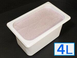 【お中元(御中元)ギフト2020にも!】「ジェラートジェラート」業務用・大容量アイスクリーム・ヨーグルトブルーベリー味 4L(4リットル)