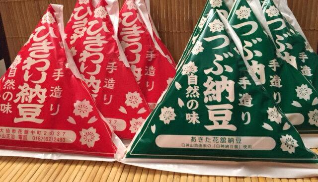 「秋田・あきた花舘納豆」ひきわり&つぶ納豆・12個セット[送料込](※のし紙不可)