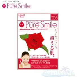 Pure Smile エッセンスマスク ローズ 化粧水タイプ 【ピュアスマイル フェイスマスク 1枚】