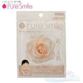 Pure Smile エッセンスマスク ホワイトローズ 化粧水タイプ 【ピュアスマイル フェイスマスク 1枚】