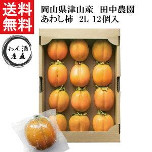【送料無料】【産地直送】田中農園 あわし柿 2L×12個入