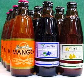 新潟麦酒 12本セット VOL.1 スパークリングマンゴー、ブルーベリー、ル・レクチェ 310ml×各4本〜ご自宅用〜ギフト対応不可