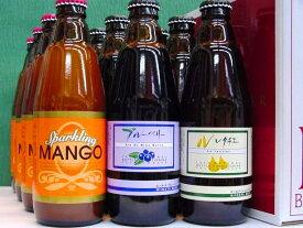 新潟麦酒 12本化粧箱入りセット VOL.1 スパークリングマンゴー、ブルーベリー、ル・レクチェ 310ml×各4本 誕生日祝い、御祝、内祝、御礼等のギフトにも。