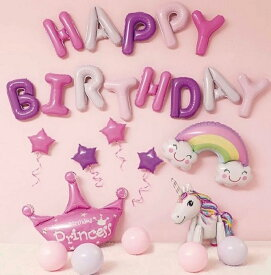 送料無料 誕生日 バルーン 誕生日 飾り付け バルーン 誕生日 パーティー 飾り付け パーティー 誕生日 バルーン 風船 バースデーパーティーグッズ ユニコーン 3D 立体 バルーン 虹 バルーン ユニコーン 風船 クラウン バルーン