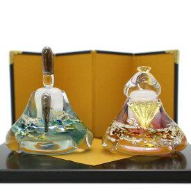 ガラスのお雛様 華雛(はなびな) glass calico グラスキャリコ ハンドメイド ガラスアート 雛人形 ひな人形 おひなさま 桃の節句 オブジェ コンパクト
