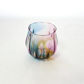 glasscalico グラスキャリコ earth (アース) 丸型 ロックグラス ハンドメイド ウイスキー 焼酎 ガラス酒器 おしゃれ ギフト プレゼント