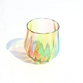 glasscalico グラスキャリコ ハンドメイド ガラス酒器 プリズム 丸型 ロックグラス ウイスキー 焼酎 カクテル 梅酒 グラス