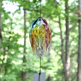 ガラスの風鈴 プリズム レトロ glasscalico グラスキャリコ ハンドメイドガラスアート おしゃれ ギフト プレゼント