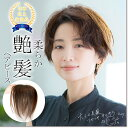 (改良品) 日本仕上げ 高品質 ヘアピース 人毛 100% 綺麗な髪 ウィッグ 23cm(23cm〜27cm) 総手植え 部分ウィッグ つむ…