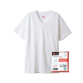 ヘインズインナーウエアー人気の魂シリーズ_ビジカジ魂VT首Tシャツ綿100%_3サイズ