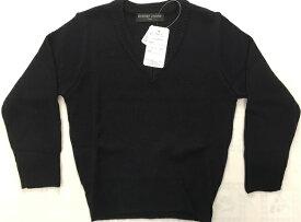 学童用アクリル100%セーター(洗濯機で丸洗い可能)紺色サイズ=110cm〜170cm