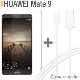 飛散防止 全面保護 ガラスフィルム huawei mate9 メイト9 楽天モバイル スマホ タイプC USB Type-C ケーブル 2m USB2.0 Type-c対応充電ケーブル