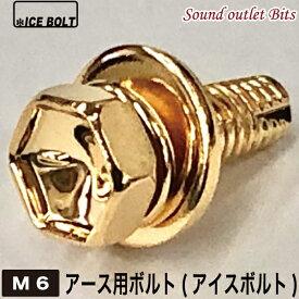 ネコポス可●ICE BOLT (アイスボルト)ボディーアース用ボルトM6