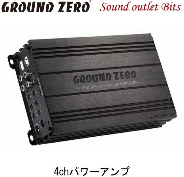 【GROUND ZERO】グラウンドゼロGZHA MINI FOUR 80W×4chパワーアンプ