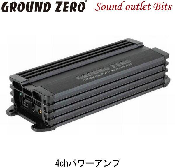 【GROUND ZERO】グラウンドゼロGZRA MICRO FOUR 60W×4chパワーアンプ