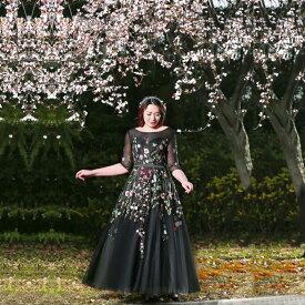 【大きいサイズカラードレス】大きいサイズパーティードレス/ウエディングドレス/ロングドレス/Aライン/編み上げタイプ/床付きタイプ【XL−7XLサイズ】fhk26