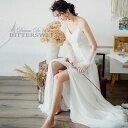 ワンピース ウェディングドレス ウエディングドレス オーダーメイドも可能 ドレス キャミソール スリット トレーント…