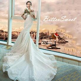 ウエディング ドレス Wedding Dress【オーダーメイドも可能になりました】ウェディングドレス 話題の新作 マーメイドタイプ ウエディングドレス オフショルダーウェディングドレス トレーンドレス 編み上げタイプ 【XS−XXL】wd109fr