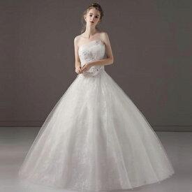 d4574f86027cc  Aライン ロングドレス ウェディングドレス ウエディングドレス ビスチェ レース