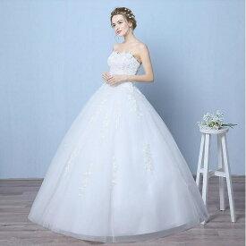 ウエディング ドレス 新色入荷 ウエディングドレス【オーダーメイドも可能】ウェディングドレス Wedding Dress ビスチェタイプ ウエディングドレス Aライン 編み上げタイプ 床付き【ホワイト・オフホワイト】【XS〜XXL】【wd7】