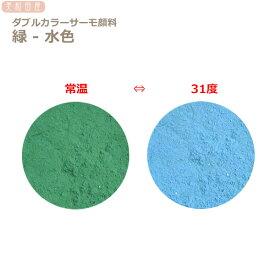 ダブルカラーサーモ顔料 緑ー水色 (温度で色が変わるレジン着色顔料)   |レジン 変色 示温 カラーチェンジ 可逆性示温材 塗料 ネイル 手芸 ハンドメイド アクセサリー