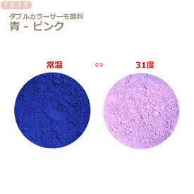 ダブルカラーサーモ顔料 青ーピンク (温度で色が変わるレジン着色顔料)    |レジン 変色 示温 カラーチェンジ 可逆性示温材 塗料 ネイル 手芸 ハンドメイド アクセサリー