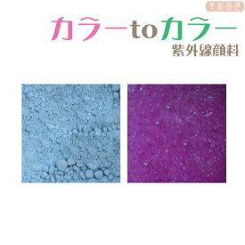カラーtoカラー 紫外線顔料 水色→紫 (レジン着色顔料)/紫外線で色が変わる フォトクロミック レジン着色 UV 手作り ハンドメイド 手芸