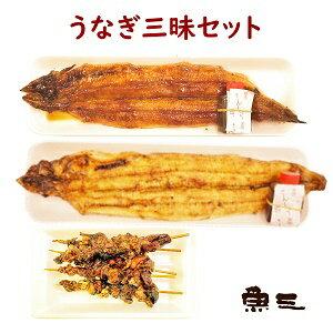 鰻三昧 蒲焼1尾 + 白焼1尾 + 肝串5本 包装なし