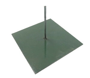 竹や笹の鉄板ベース アイアンポールスタンド (台座 丸棒 屋外 屋内 七夕用 鉄板スタンド)