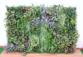 壁面緑化パネル グリーン(2分割 大型 目隠し イミテーション 造花 フェイク 装飾)