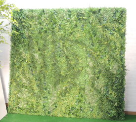 壁面緑化パネル グリーンP 1.8m×1.8m(3分割 大型 目隠し イミテーション 造花 フェイク 装飾)